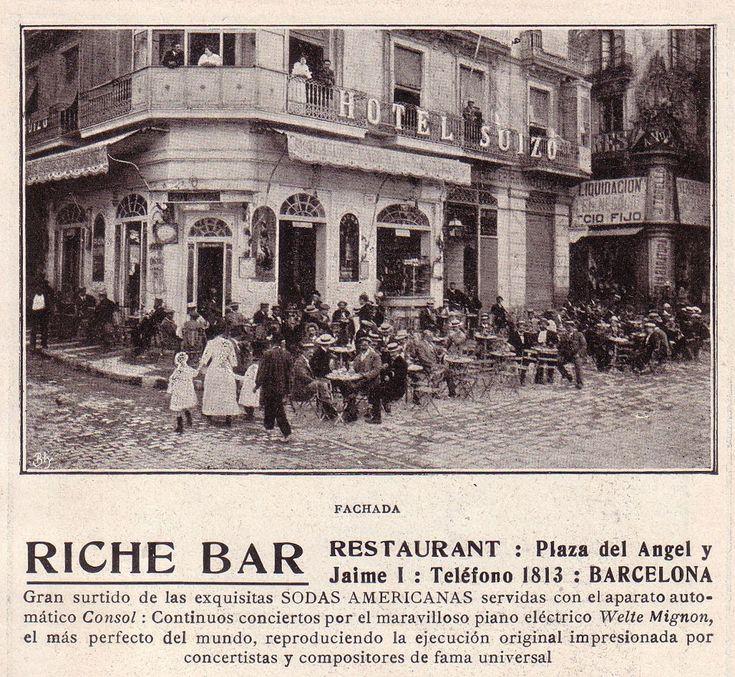 1914.- RICHE BAR (Plaza del Angel)