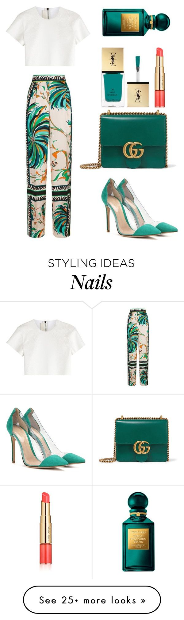 """Untitled #2156"" by ordinarydays on Polyvore featuring Emilio Pucci, Gianvito Rossi, Neil Barrett, Gucci, Yves Saint Laurent, Tom Ford and Estée Lauder"