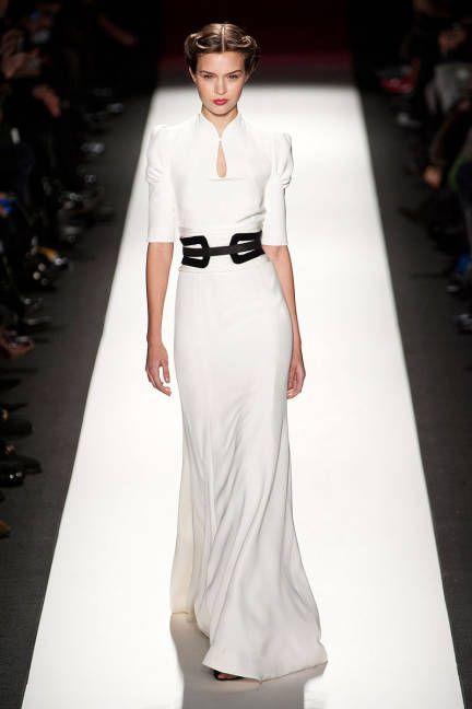 Spring 2013 Trend Report: Black & White  (Carolina Herrera) #fashionweek #trends