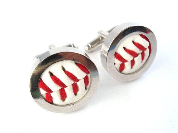 Real Baseball Cufflinks by bitsandbadges, $23.95