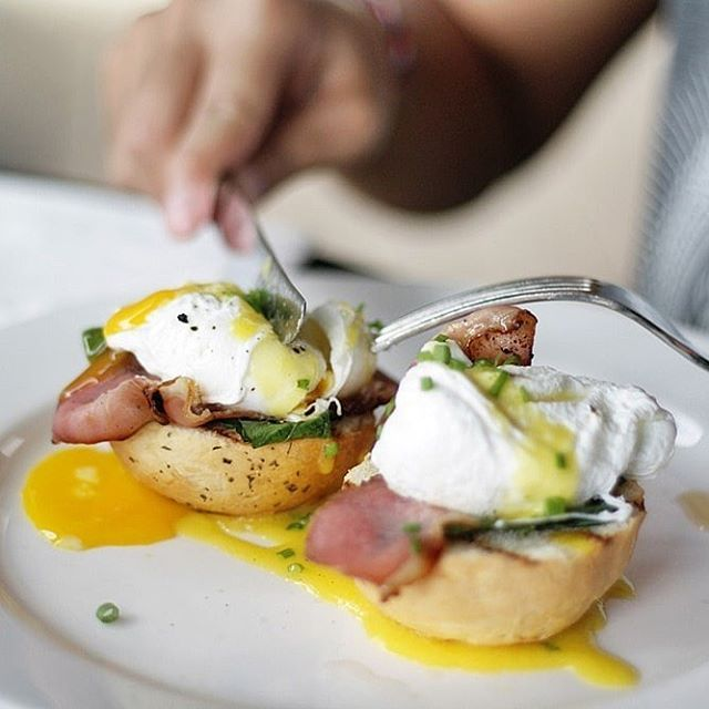 perfect running egg yolk from egg benedict! Delicious!  Image by herdianahs