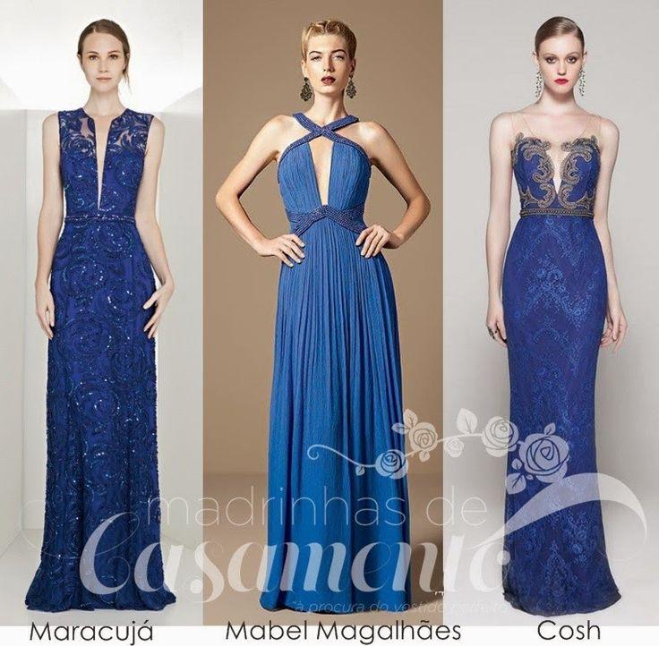 Madrinhas de casamento: Inspiração azul: vestidos de festa