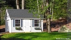 #7- Reeds Ferry 10x16 Victorian cottage with vinyl siding