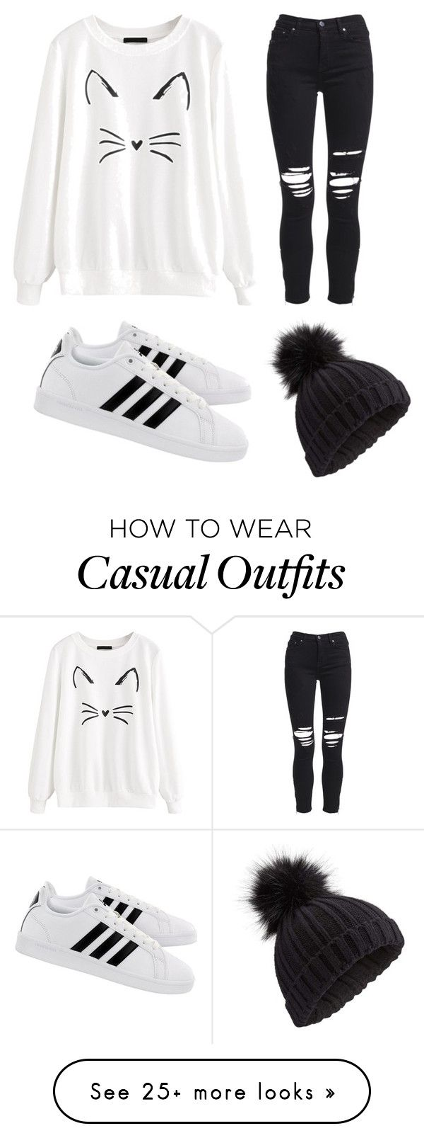 """""""Casual cat"""" by laurenparadis on Polyvore featuring AMIRI, adidas, Miss Selfridge and Hoodies"""