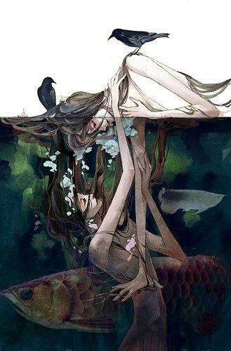 Mermaids & crows