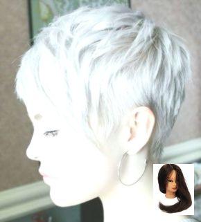 Silber und trendige Frisur Grau = schön! -Frauen mit kurzen Frisuren – # Short …