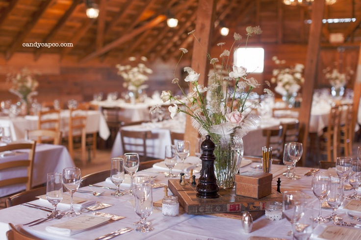A Vintage & Pretty chessboard themed reception table.    Photography by Candy Capco