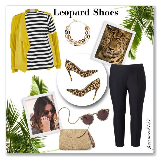 """Leopard Shoes #Plussize"" by penny-martin ❤ liked on Polyvore featuring AMUR, Simply Vera, Mar y Sol, Illesteva, Sam Edelman and River Island"