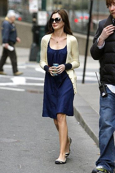 """I love Anne Hathaway's outfits in """"Bride Wars"""" and """"The Devil Wears Prada"""". So cute!"""