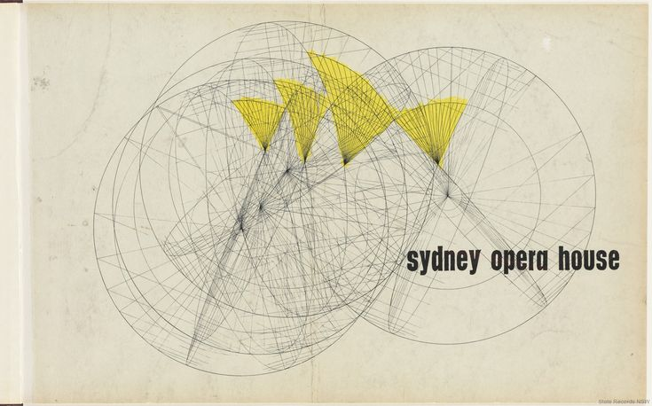 1962 Front cover. Sydney Opera House - Yellow Book. NRS 12708