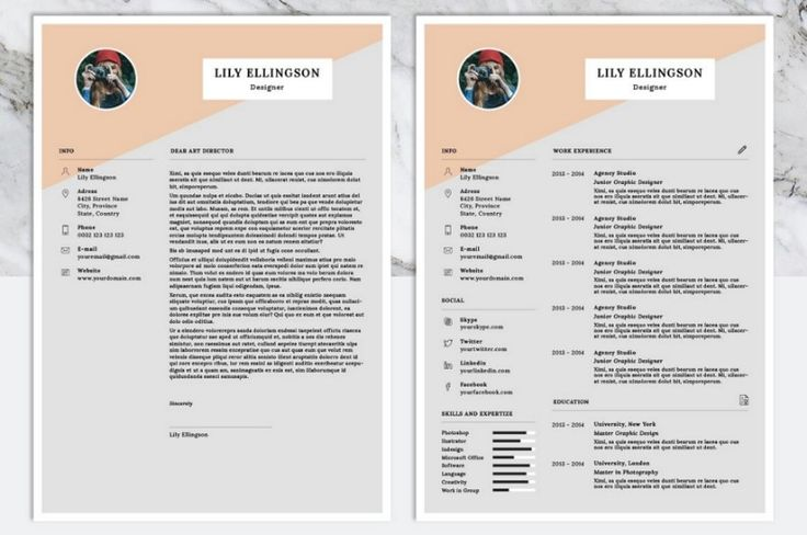 12 best 15+ Photographer Resume Template Word, PSD Format images on