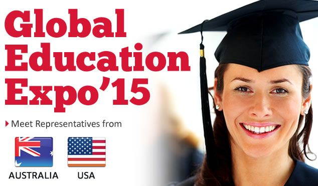 Meet University Representatives at global education fair 2015,Wide range of courses offered,Avail Scholarships,Details on Post Study Work Permit,FREE Visa guidance,The biggest education expo in india,nepal,bangladesh.