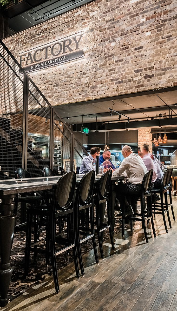 Factory Dining, Pizza, Steak, Ribs, Collegians Wollongong #decor #food #drinks