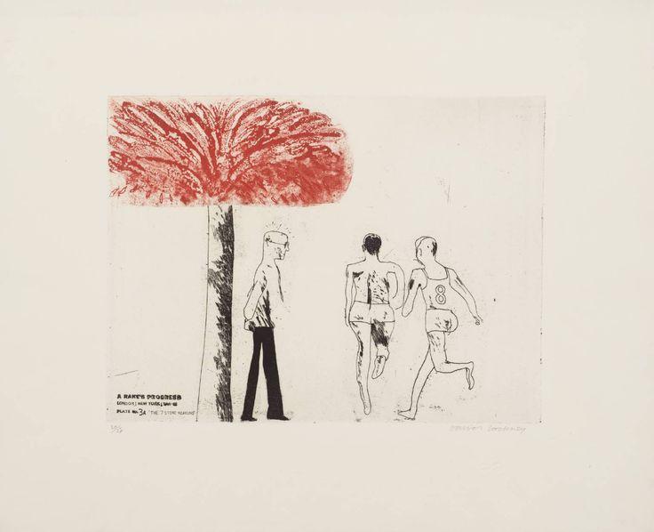 "David Hockney - 3a. The Seven Stone Weakling (from ""A Rake's Progress"")"