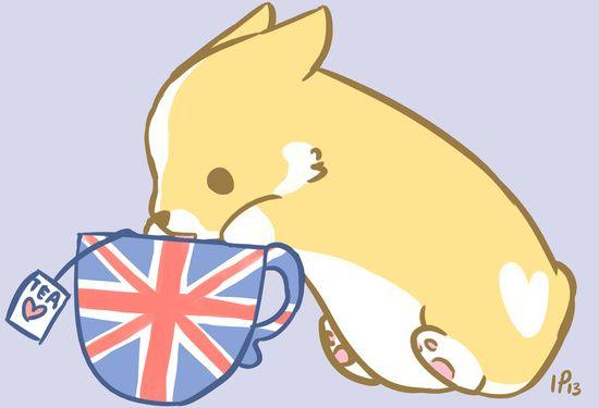 Cuppa Corgi Tea Art Print