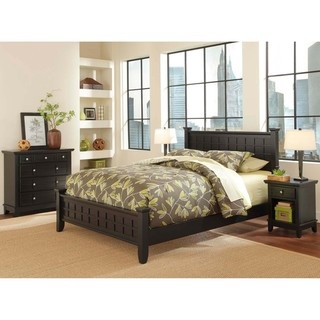 Arts And Crafts Black 3 Piece Queen Size Bedroom Set By Home Styles