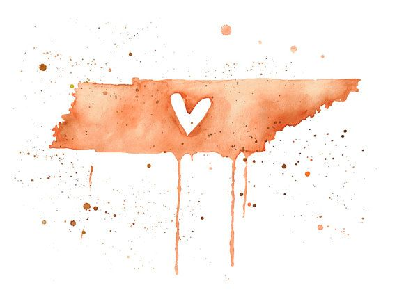 5x7  Tennessee Love by poppyandpinecone on Etsy, $10.00...SO CUTE!