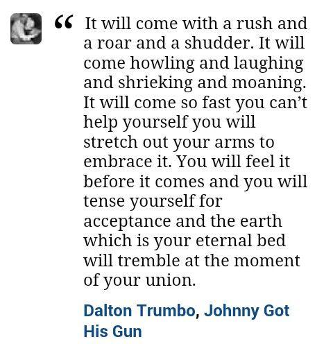 Johnny Got His Gun quote