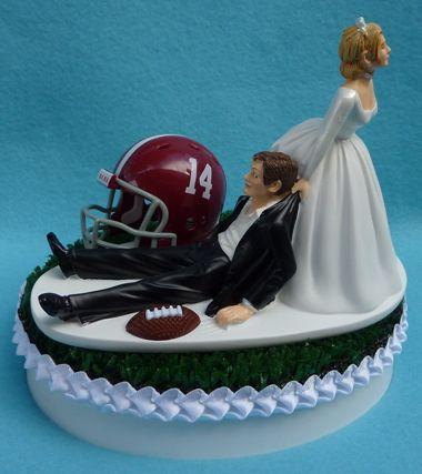 Wedding Cake Topper University Of Alabama Crimson Tide