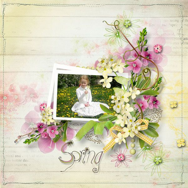 """RE-RELEASE  """"Spring Kiss"""" Collection by Palvinka Designs   http://www.thedigichick.com/shop/Spring-Kiss-Collection.html  save 52%  RAK pro neteř Simonu"""
