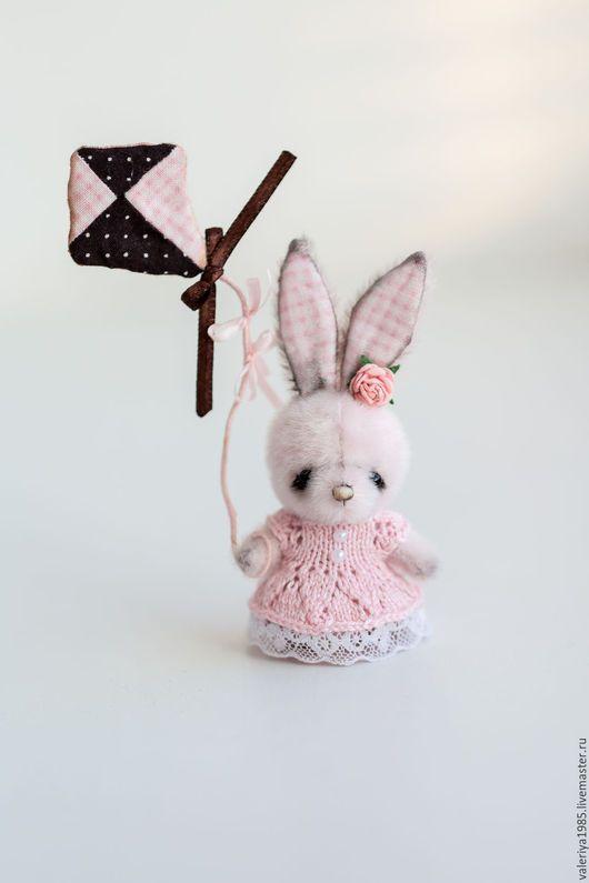 Teddy Bunny toy / Мишки Тедди ручной работы. Ярмарка Мастеров - ручная работа. Купить Розовая зайка со змеем. Handmade. Бледно-розовый