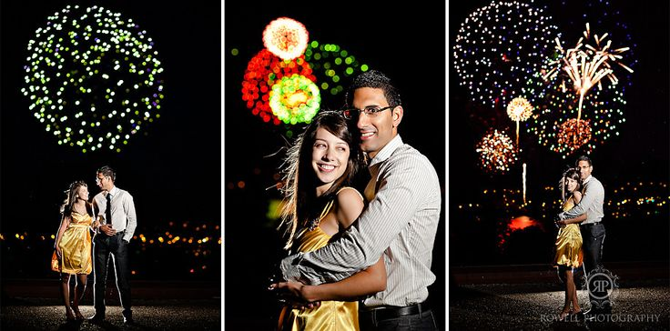 Engagement Picture Fireworks. Breathtaking.