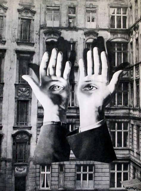 "Herbert Bayer. Bauhaus.   ""Lonely Metropolitan""  Photomontage  1932"