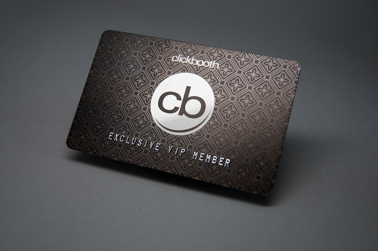 30mil Silver PVC plastic VIP card.
