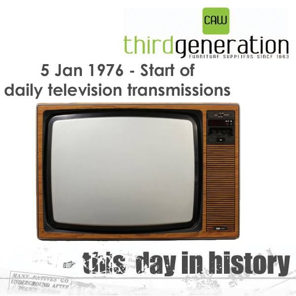 TODAY IN HISTORY: Date: 5 January, 1976 The South African Broadcasting Corporation (SABC) started regular daily television transmissions on a single channel after seven months of trial transmissions during 1975. The service was officially opened by Prime Minister B.J. Vorster, who warned against slanted news and unbalanced presentations. #history