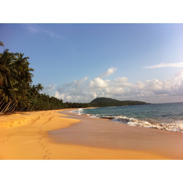 Jale beach, Sao Tome