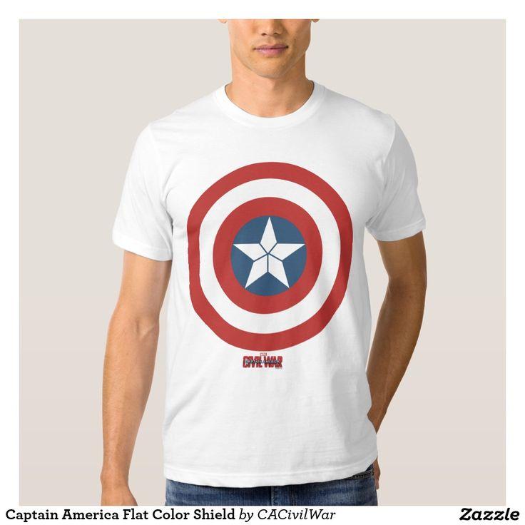 Captain America Flat Color Shield Tee Shirt. Regalos, Gifts. #camiseta #tshirt