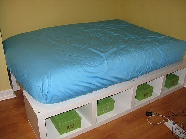 How to build a full double platform bed with storage for How to make your own platform bed