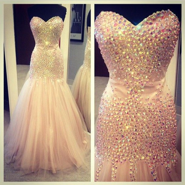 Gorgeous Mermaid/Trumpet Evening Prom Dresses Sweetheart Sheer Tulle Floor…