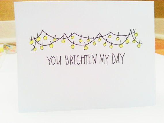 Lightbulb card.