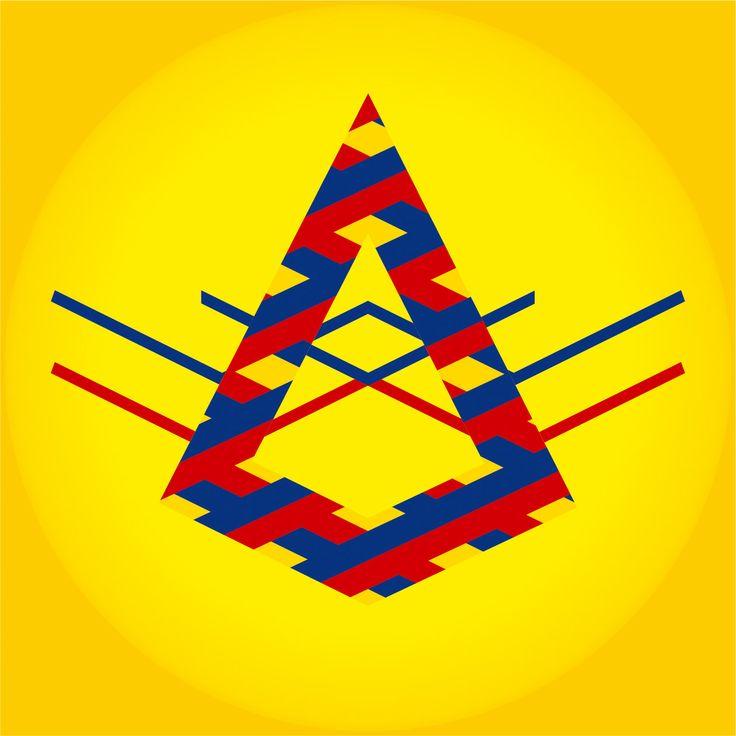 """""""Mi Pez"""" by Amel Segré. Exciz6, la dimensión geométrica. #abstrac #art #conceptual"""