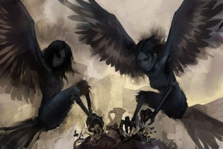Harpies - said to be beautiful in some depictions and ugly in others.