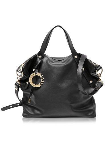 #Iris borsa doppio manico in pelle nera  ad Euro 245.00 in #Borse borse donna #Moda