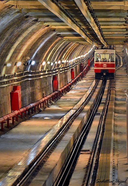 Funicular railway, Istanbul, Turkey