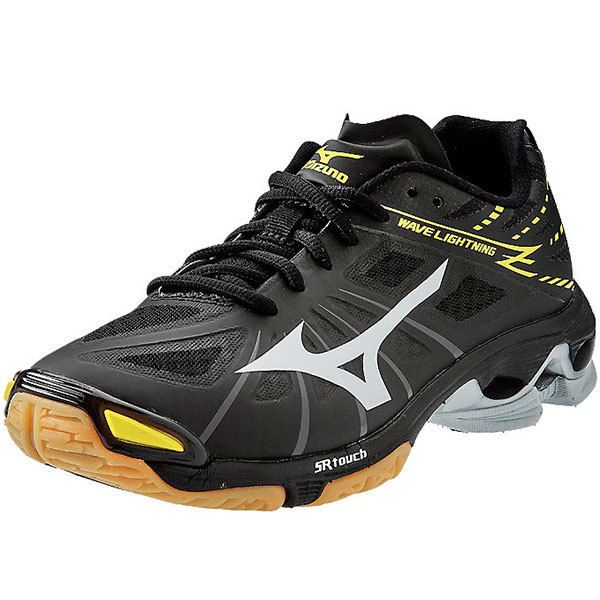 Mizuno Women's 430186 Wave Lightning Z Indoor Volleyball Shoe (Black/Dark Grey/Neon Yellow)