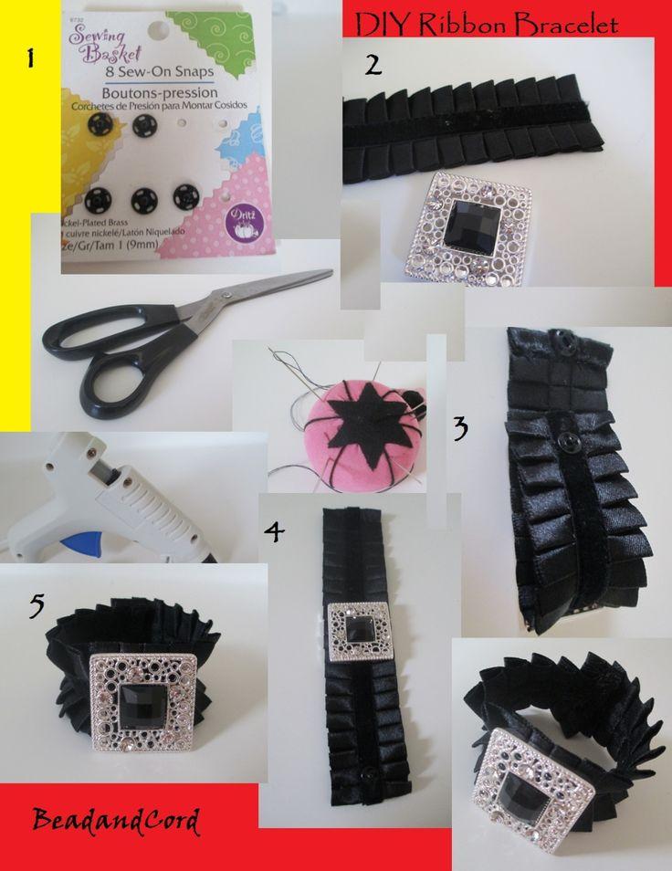 DIY Jewelry DIY Bracelet DIY Ribbon Bracelet
