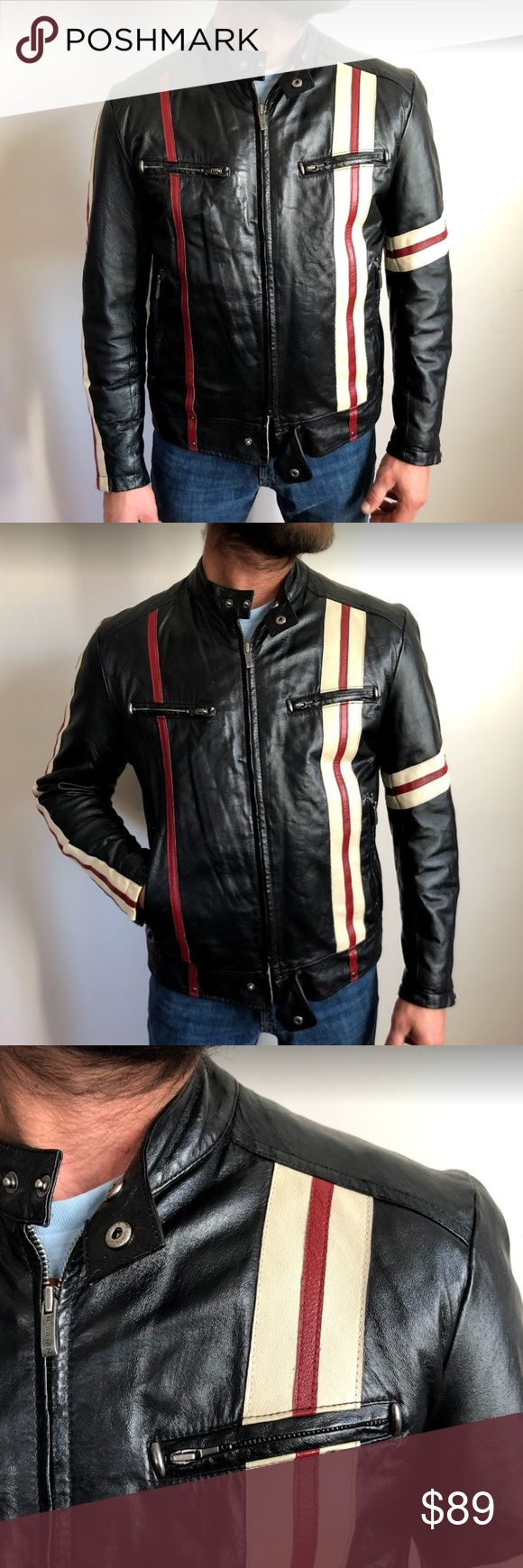 Wilsons Leather M. Julian Racer Moto Biker Jacket