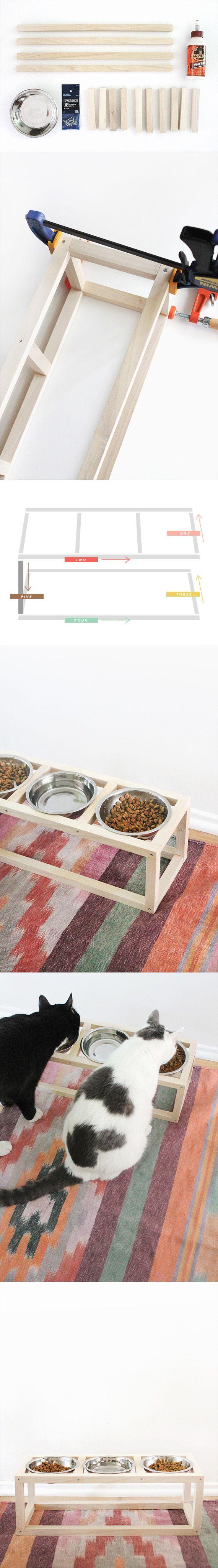 Moderno comedero para mascotas http://www.almostmakesperfect.com/