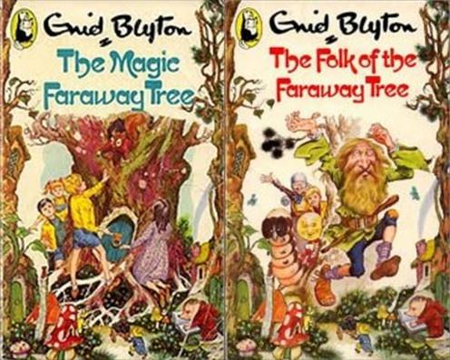 The Magic Faraway Tree and The Folk of the Faraway Tree by Enid Blyton