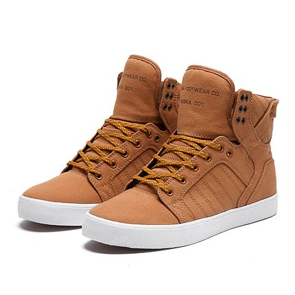 SUPRA SKYTOP | GOLDEN OAK / PUMPKIN - WHITE | Official SUPRA Footwear Site
