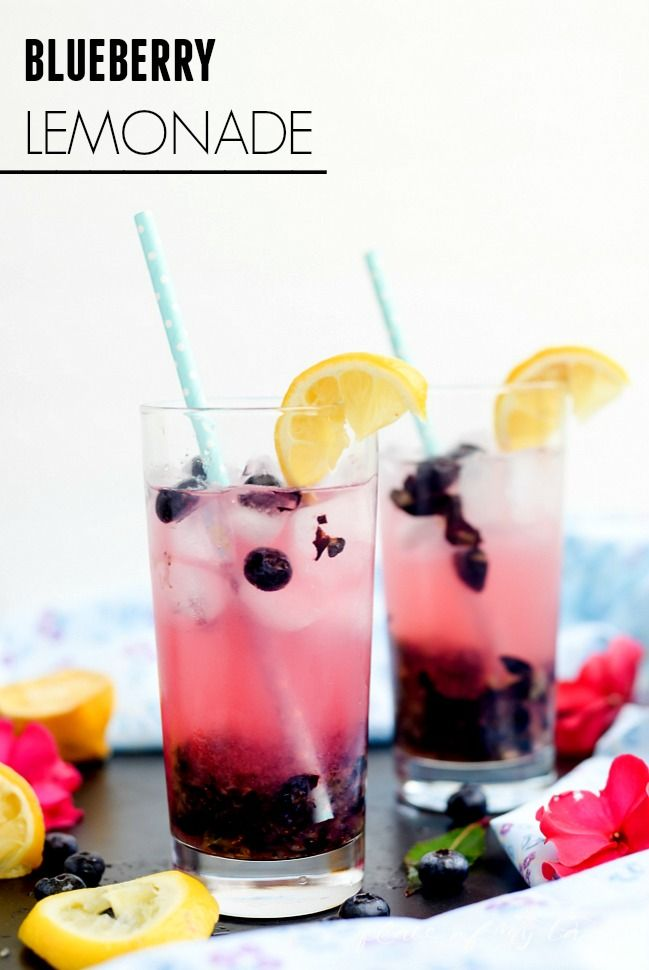 This is an awesome lemonade recipe! Blueberry lemonade is a perfect drink recipe for your summer parties!