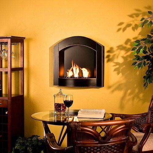 Wall Mount Indoor Outdoor Patio Fireplace Gel Fuel Mantle