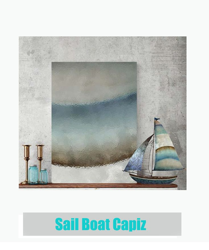 Sail Boat Capiz for Outdoor Home Decor