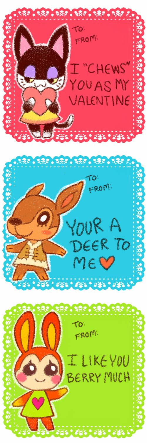 313 best images about h2 Valentines Day Cards – Animal Valentine Cards