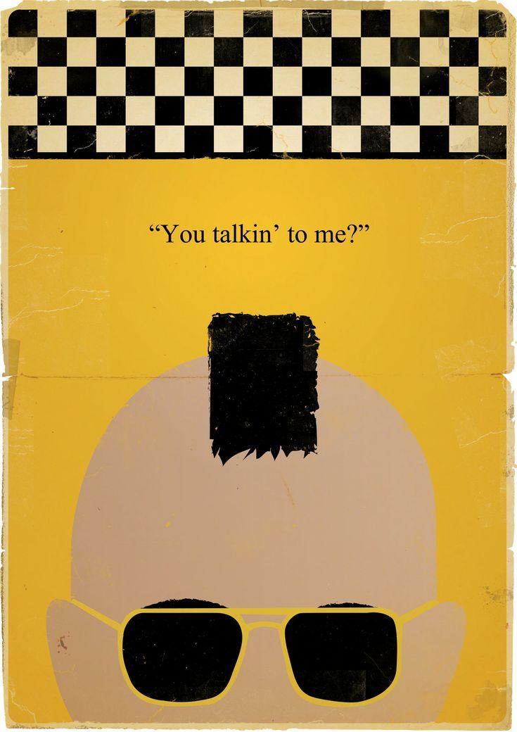 Taxi Driver Minimalist Film Poster.