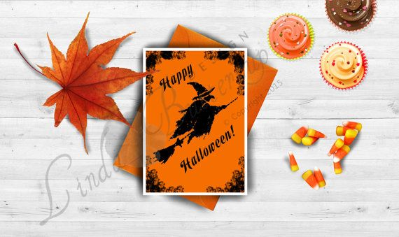 Halloween cards, Halloween decor, Halloween invitation ,Halloween party, Spooky Halloween, Halloween greeting card, Halloween Print, Witch,